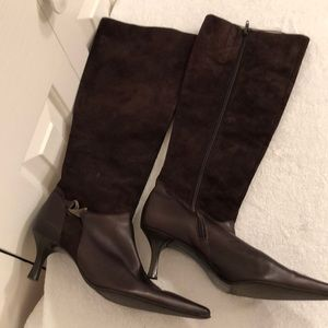 Peter kaiser boots sz8 1/2 brown leather/suede